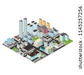 isometric vector metropolis... | Shutterstock .eps vector #1145257256
