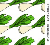 young onion seamless pattern....   Shutterstock .eps vector #1145258636