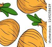 onion seamless pattern. vector...   Shutterstock .eps vector #1145258639