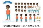 cute african american boy... | Shutterstock .eps vector #1145259476
