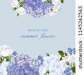 template for greeting cards ... | Shutterstock .eps vector #1145262563