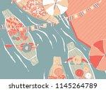 thailand tourism landscape ... | Shutterstock .eps vector #1145264789