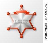 wild west sheriff metal gold... | Shutterstock .eps vector #1145266649