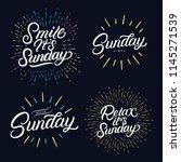 sunday set hand written...   Shutterstock .eps vector #1145271539