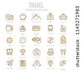 collection of travel thin line... | Shutterstock .eps vector #1145271983