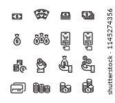 money line icon set 2 | Shutterstock .eps vector #1145274356