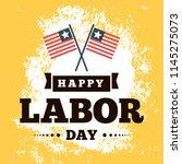 happy labor day. vector logo.... | Shutterstock .eps vector #1145275073