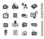 newspeper icon set | Shutterstock .eps vector #1145275490