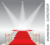 red carpet for celebrities ... | Shutterstock .eps vector #1145276519