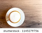 coffee cup cappuccino hot on... | Shutterstock . vector #1145279756