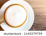 coffee cup cappuccino hot on... | Shutterstock . vector #1145279759