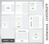 editable simple modern social... | Shutterstock .eps vector #1145290379