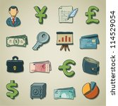 freehand icons   banking | Shutterstock .eps vector #114529054