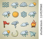 freehand icons   weather | Shutterstock .eps vector #114529060