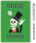 happy halloween vector greeting ... | Shutterstock .eps vector #1145290730