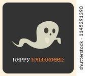 happy halloween greeting card... | Shutterstock .eps vector #1145291390