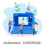 concept sign in page on... | Shutterstock .eps vector #1145293103