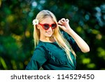 beautiful girl with love... | Shutterstock . vector #114529450