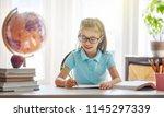 back to school  happy cute... | Shutterstock . vector #1145297339