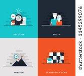 flat design leadership concept... | Shutterstock .eps vector #1145299076