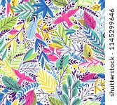 vector colorful floral seamless ... | Shutterstock .eps vector #1145299646