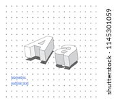 isometric outline 3d text.... | Shutterstock .eps vector #1145301059