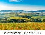 tuscany  italy   june 10  2018  ... | Shutterstock . vector #1145301719