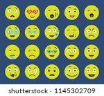 set of 20 icons such as in love ... | Shutterstock .eps vector #1145302709