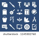 set of 20 icons such as tablet  ...