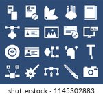 set of 20 icons such as photo...