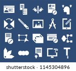 set of 20 icons such as text...