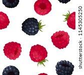 seamless pattern of ripe berry...   Shutterstock .eps vector #1145305250