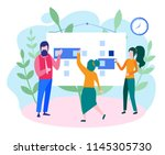 concept time management ... | Shutterstock .eps vector #1145305730