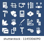 set of 20 icons such as pencil...