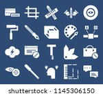 set of 20 icons such as chat ...