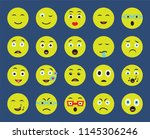 set of 20 icons such as happy ...