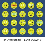 set of 20 icons such as tongue  ... | Shutterstock .eps vector #1145306249