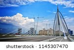 iron mosque  seri wawasan bridge | Shutterstock . vector #1145307470