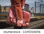 train station  daily life. hand ... | Shutterstock . vector #1145310656