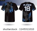 sports jersey template for team ... | Shutterstock .eps vector #1145311010