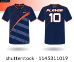 sports jersey template for team ... | Shutterstock .eps vector #1145311019
