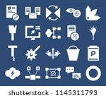 set of 20 icons such as color...
