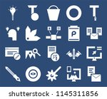 set of 20 icons such as browser ...