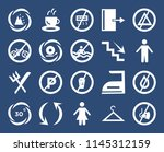 set of 20 icons such as no...