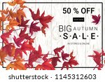 big autumn sale. fall sale... | Shutterstock .eps vector #1145312603