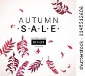 big autumn sale. fall sale... | Shutterstock .eps vector #1145312606