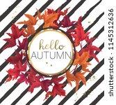 hello autumn vector design... | Shutterstock .eps vector #1145312636