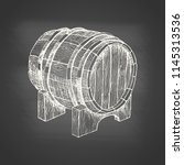 Wooden Barrel With Beer Or Wine ...