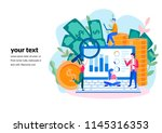 concept seo  market research... | Shutterstock .eps vector #1145316353