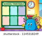weekly school timetable... | Shutterstock .eps vector #1145318249